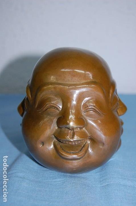 BRONCE BUDA CUATRO CARAS (Arte - Escultura - Bronce)