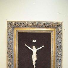 Arte: CUADRO ANTIGUO CRISTO DE MARFIL. Lote 117617175