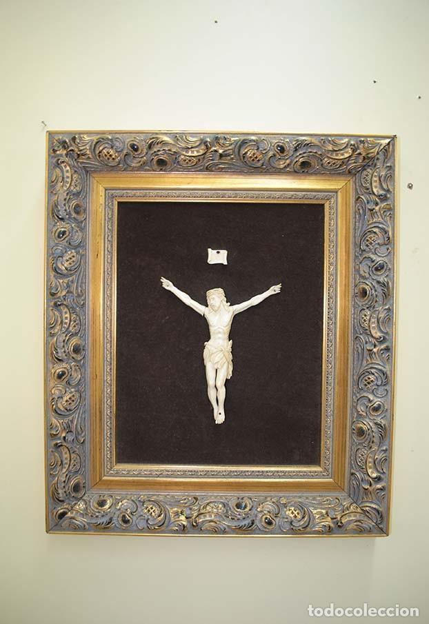 Arte: CUADRO ANTIGUO CRISTO DE MARFIL - Foto 2 - 117617175