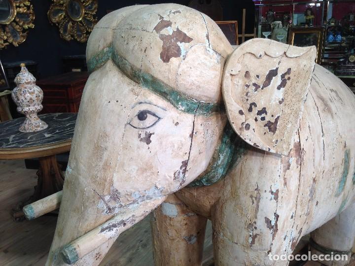 Arte: Antigua escultura indiana 'Elefante' del XIX siglo - Foto 3 - 117857387