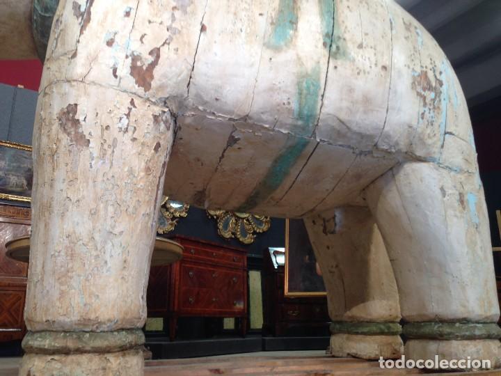 Arte: Antigua escultura indiana 'Elefante' del XIX siglo - Foto 4 - 117857387
