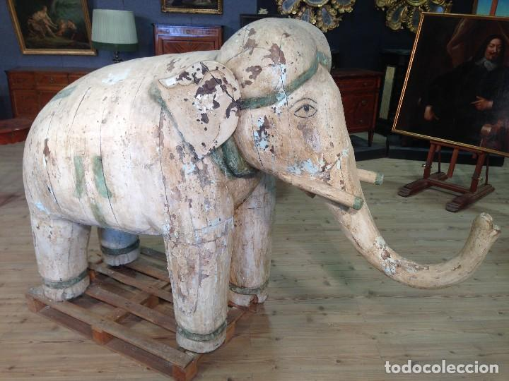 Arte: Antigua escultura indiana 'Elefante' del XIX siglo - Foto 7 - 117857387