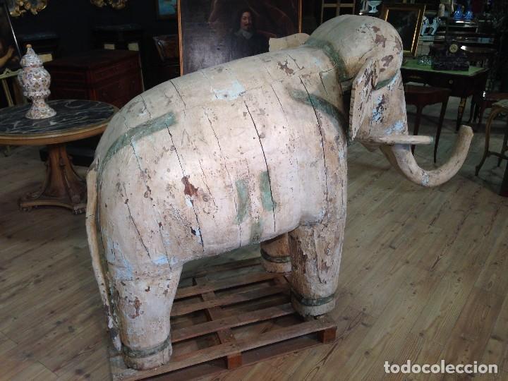 Arte: Antigua escultura indiana 'Elefante' del XIX siglo - Foto 8 - 117857387