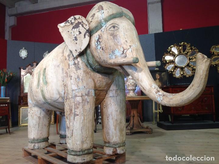 Arte: Antigua escultura indiana 'Elefante' del XIX siglo - Foto 9 - 117857387