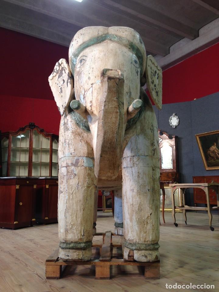 Arte: Antigua escultura indiana 'Elefante' del XIX siglo - Foto 10 - 117857387
