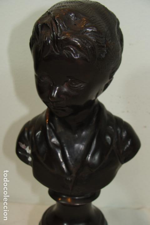 Arte: Busto de niño en bronce - Foto 2 - 117899287