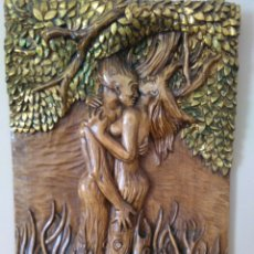 Arte: AMOR RELIEVE MADERA. Lote 117995895