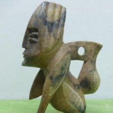 Arte: CURIOSA Y RARA FIGURA BEREBER (NORTEAFRICANA) TALLADA A MANO EN PIEDRA - ORIGINAL DE MARRUECOS. Lote 118101431
