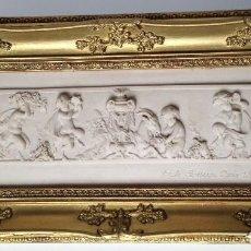 Arte: PIEZA NEOBARROCA EL ESCULTOR EMILE-ANDRE BOISSEAU(1842-1923)BAJORELIEVE EN MARMOL FECHADO PARIS 1872. Lote 118149911