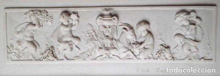 Arte: PIEZA NEOBARROCA EL ESCULTOR EMILE-ANDRE BOISSEAU(1842-1923)BAJORELIEVE EN MARMOL FECHADO PARIS 1872 - Foto 3 - 118149911