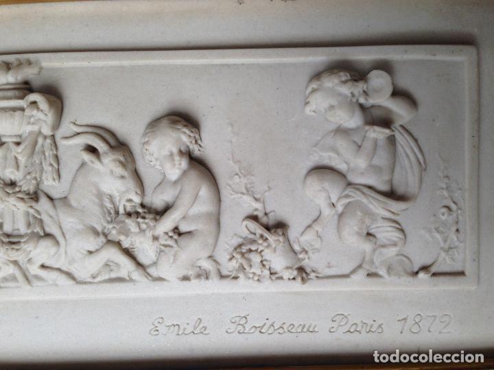 Arte: PIEZA NEOBARROCA EL ESCULTOR EMILE-ANDRE BOISSEAU(1842-1923)BAJORELIEVE EN MARMOL FECHADO PARIS 1872 - Foto 5 - 118149911