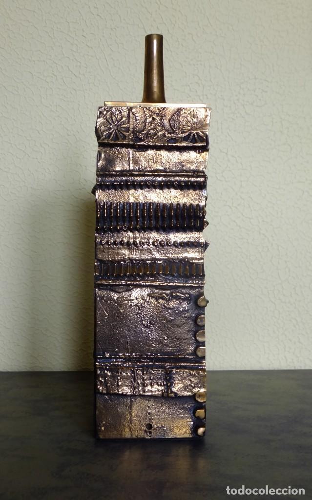 Arte: JOSÉ LUIS SÁNCHEZ. Lámparas. Escultura de bronce. - Foto 2 - 118558387