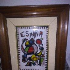 Arte: PRECIOSA PLACA DE JOAN MIRÓ . Lote 118863063