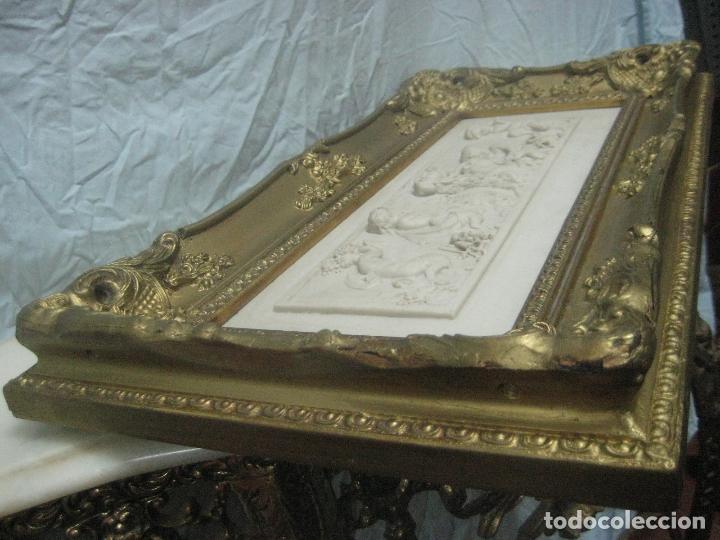 Arte: PIEZA NEOBARROCA EL ESCULTOR EMILE-ANDRE BOISSEAU(1842-1923)BAJORELIEVE EN MARMOL FECHADO PARIS 1872 - Foto 8 - 118149911