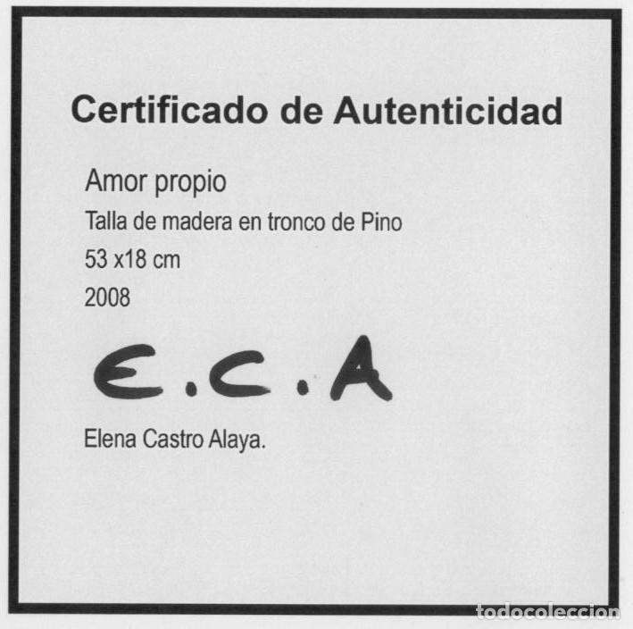 Arte: TALLA DE MADERA / AMOR PROPIO/ DE CASTRO ALAYA - Foto 16 - 118891751