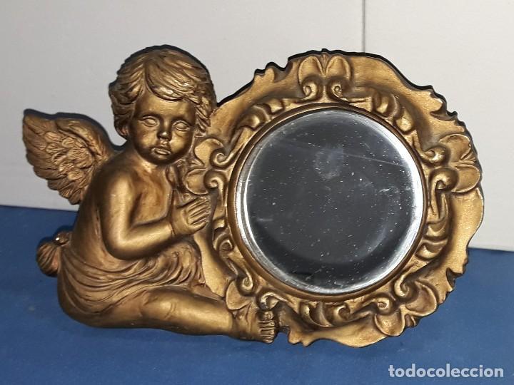 BONITO ANGELITO ESPEJO DE MARCA SIA COLECION (Arte - Escultura - Resina)