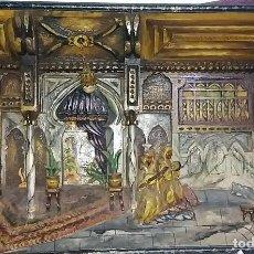 Arte: ANTIGUO DIORAMA DE MADERA TALLADA - INTERIOR ESCENA ARABE - FIRMADO R. VALDOR CIRCA 1920-30. Lote 119202839
