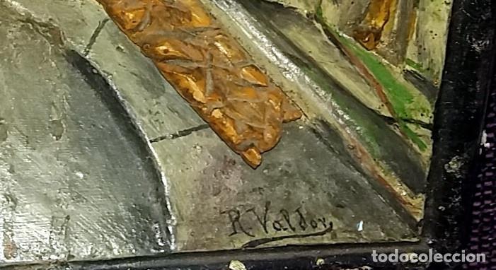 Arte: ANTIGUO DIORAMA DE MADERA TALLADA - INTERIOR ESCENA ARABE - FIRMADO r. valdor CIRCA 1920-30 - Foto 5 - 119202839