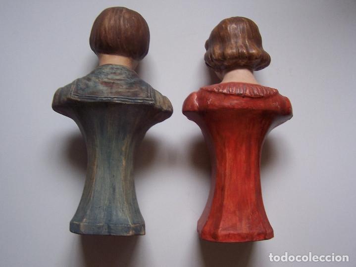 Arte: Bustos de niños, en barro cocido con escudo en peana. - Foto 2 - 48607668