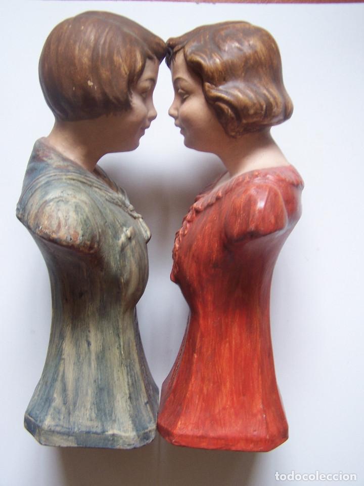 Arte: Bustos de niños, en barro cocido con escudo en peana. - Foto 3 - 48607668