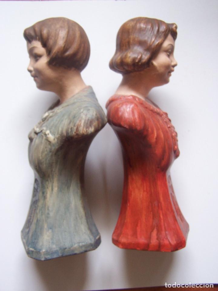 Arte: Bustos de niños, en barro cocido con escudo en peana. - Foto 4 - 48607668