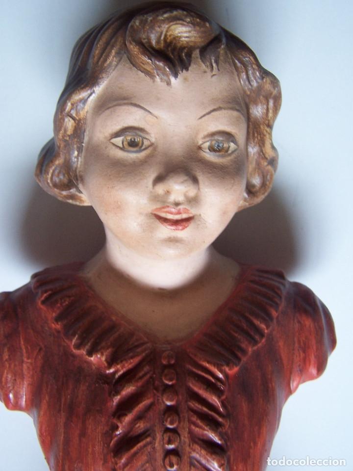 Arte: Bustos de niños, en barro cocido con escudo en peana. - Foto 5 - 48607668