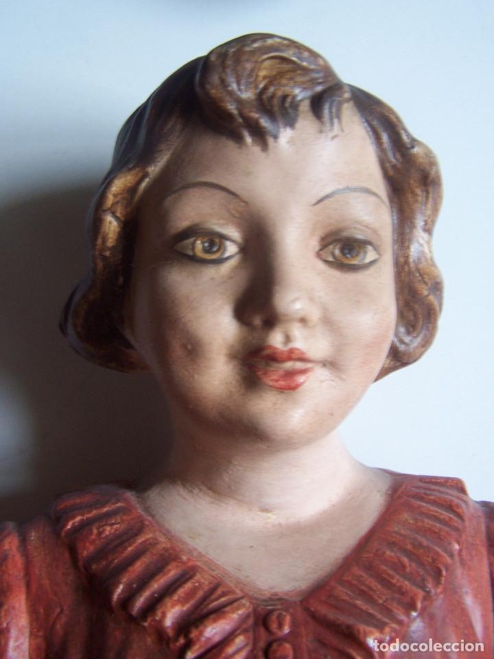 Arte: Bustos de niños, en barro cocido con escudo en peana. - Foto 6 - 48607668