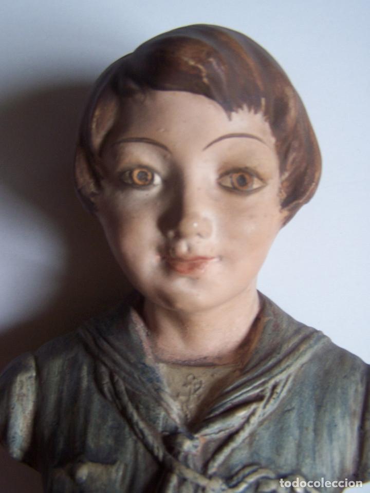 Arte: Bustos de niños, en barro cocido con escudo en peana. - Foto 7 - 48607668