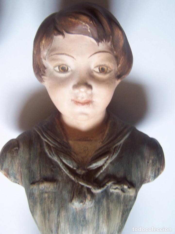 Arte: Bustos de niños, en barro cocido con escudo en peana. - Foto 8 - 48607668