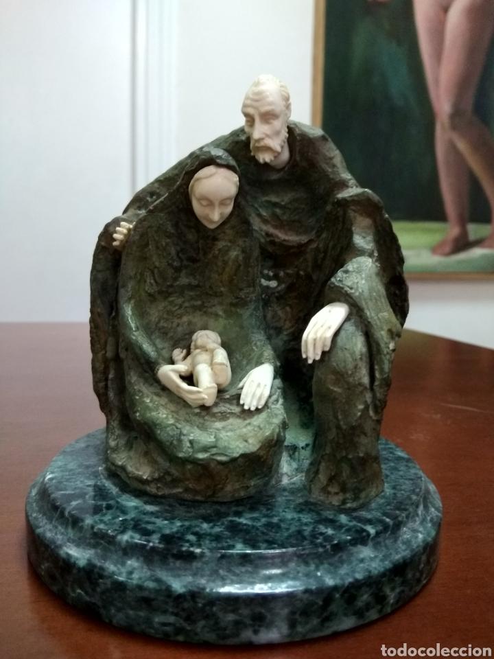 CRISOELEFANTINA EN BRONCE Y MARFIL DE LA ESCULTORA AUSTRÍACA SUSANA C. POLAC (Arte - Escultura - Bronce)
