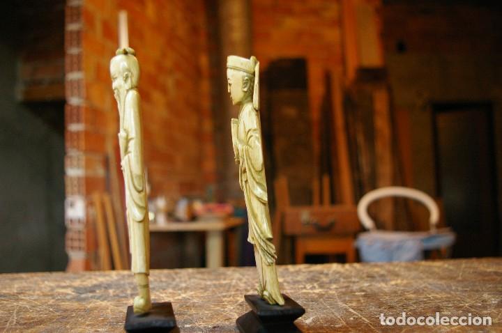 Arte: Pareja de marfil, 15 cm. - Foto 2 - 194239543