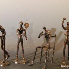 Arte: 4 ESCULTURAS EN HIERRO DEPORTES Y MUSICA. Lote 119860007