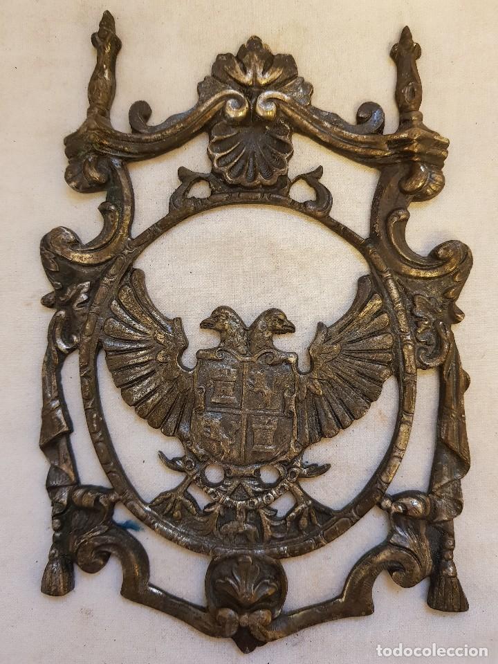 APLIQUE ÁGUILA BICÉFALA DE BRONCE. SIGLO XVII (Arte - Escultura - Bronce)