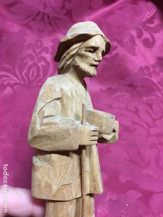 Arte: IMAGEN TALLA DE MADERA PASTOR PARA PORTAL DE BELEN - MEDIDA 18 CM - RELIGIOSO - Foto 4 - 120122207