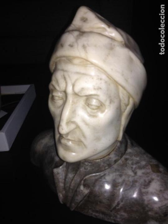 BUSTO EN MARMOL DE DANTE, MEDIDAS APROX 42CMS DE ANCHO X 40 CMS DE ALTO (Arte - Escultura - Alabastro)