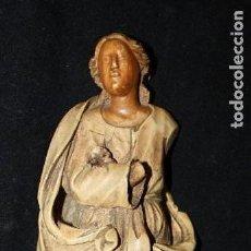 Arte: ESCUELA ESPAÑOLA DE FINALES DEL SIGLO XVII. VIRGEN EN MARFIL TALLADO. Lote 120392627