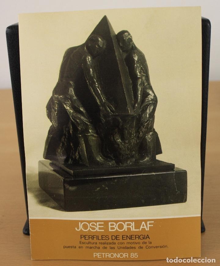 Arte: ESCULTURA EN BRONCE PERFILES DE ENERGIA. JOSE BORLAF. ENCARGO DE PETRONOR, AÑO 1985 - Foto 11 - 120396248