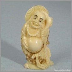 Arte - Okimono de marfil Buda de la felicidad (ESAB00042/13i) - 120491011