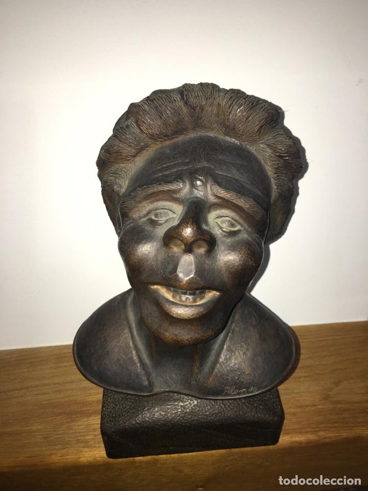 BUSTO DE ROSALÍA DE CASTRO EN BRONCE DEL ESCULTOR DE FERROL ALONSO (Arte - Escultura - Bronce)