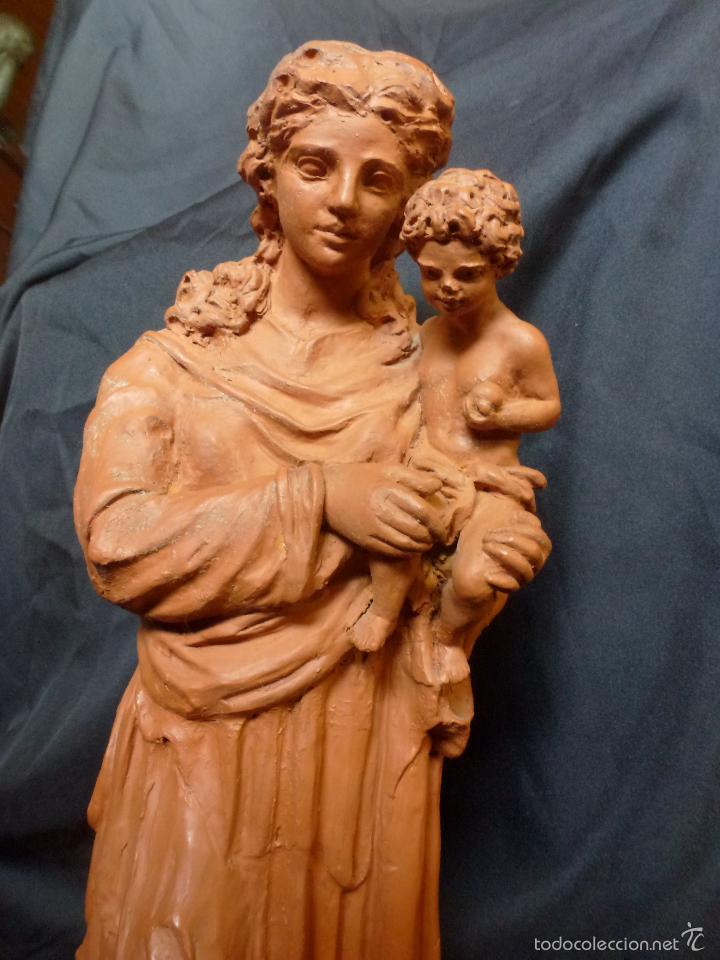 Arte: Virgen Con niño. En terracota. Pieza de autor. Ramon camps - Foto 2 - 120978495