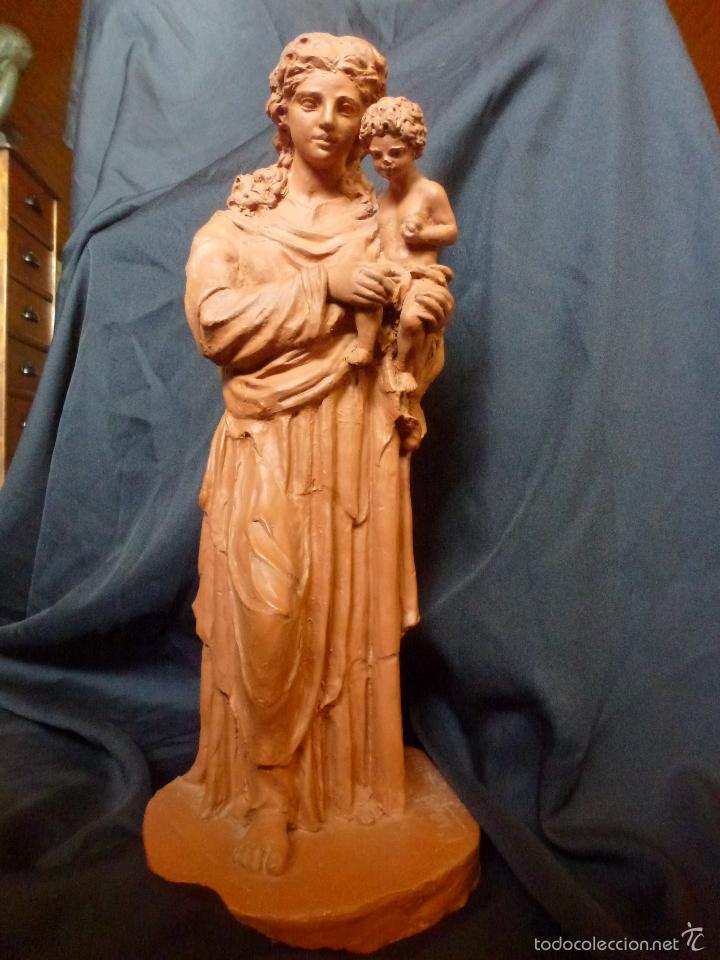 Arte: Virgen Con niño. En terracota. Pieza de autor. Ramon camps - Foto 4 - 120978495