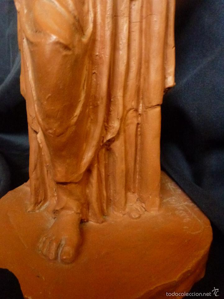 Arte: Virgen Con niño. En terracota. Pieza de autor. Ramon camps - Foto 6 - 120978495