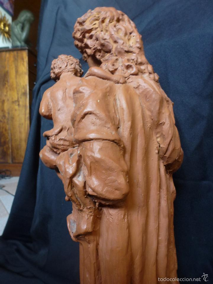 Arte: Virgen Con niño. En terracota. Pieza de autor. Ramon camps - Foto 11 - 120978495