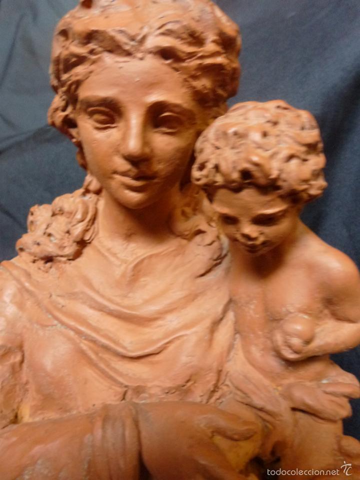 Arte: Virgen Con niño. En terracota. Pieza de autor. Ramon camps - Foto 13 - 120978495
