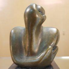 Arte: MACHU HARRAS (MÁLAGA 1948) INTERESANTISIMA ESCULTURA DE BRONCE (PEQUEÑA) FIRMADA.. Lote 121056812