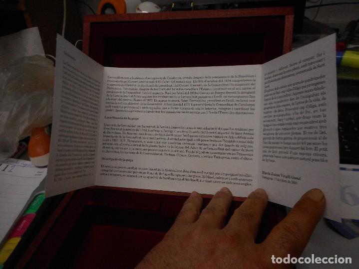 Arte: escudo generalitat catalunya realizado a mano por satorras con su libreto y caja original - Foto 6 - 121172847