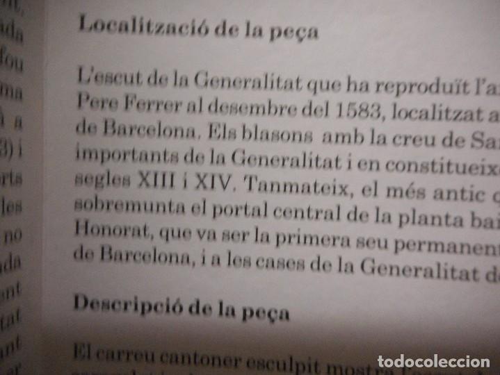 Arte: escudo generalitat catalunya realizado a mano por satorras con su libreto y caja original - Foto 7 - 121172847