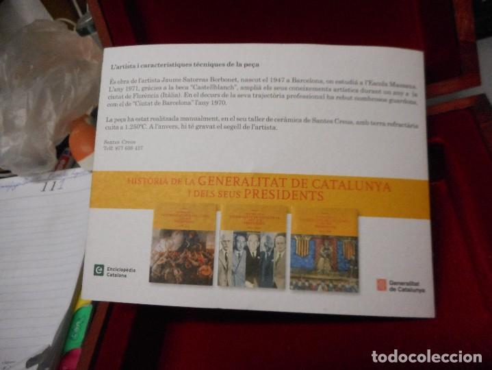 Arte: escudo generalitat catalunya realizado a mano por satorras con su libreto y caja original - Foto 8 - 121172847