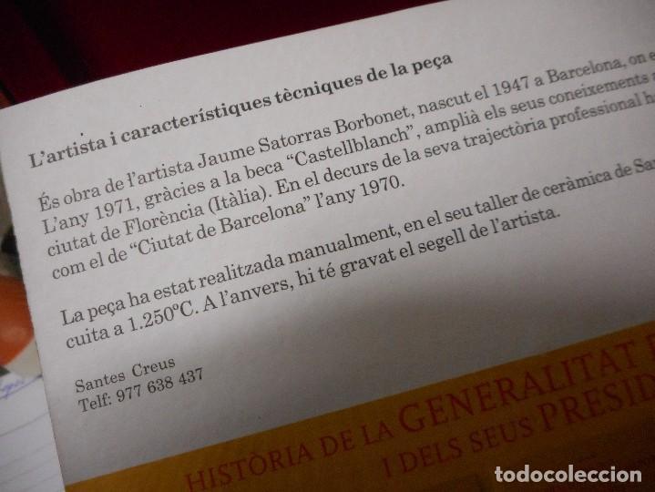 Arte: escudo generalitat catalunya realizado a mano por satorras con su libreto y caja original - Foto 9 - 121172847