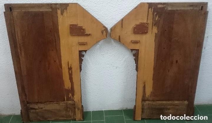Arte: Antigua pareja de puertas, tablas neogóticas de madera de nogal rubio. Restauradas. Siglo XIX. - Foto 6 - 121239023